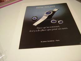 ANCIENNE PUBLICITE  MONTRE PATEK PHILPPE 1978 - Bijoux & Horlogerie