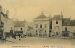 QUINGEY HOTEL-DE-VILLE M. PILLOT CAFE RESTAURANT CARTE TOILEE 25 - France