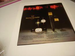 ANCIENNE PUBLICITE MONTRE MICHEL HERBELIN 1978 - Bijoux & Horlogerie