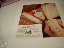 ANCIENNE PUBLICITE MONTRE HERMES 1979 - Autres