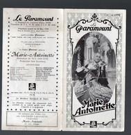 Paris (cinéma) Programme LE PARAMOUNT : Maris Antoinette  De WS Van Dyke 1939 (PPP13633) - Programmes