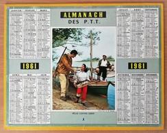 Calendrier La Poste - Almanach:75 Seine/Paris 1961. Plan Métropolitain/Métro - Grossformat : 1961-70