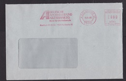 Germany: Cover, 1988, Meter Cancel, Bank For Pharmacist & Physician, Medical, Medics, Nice Date: 8-8-88 (traces Of Use) - Brieven En Documenten