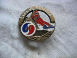"""Broche-Médaille  """"La Flèche De Bronze"""", Insigne ESF (Ecole De Ski Francais). - Winter Sports"""