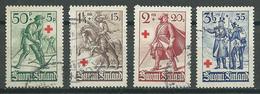 Finlande YT N°214/217 Croix-Rouge Oblitéré ° - Finlande