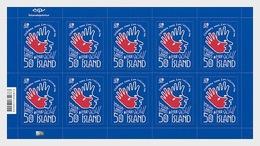 Z05 Iceland 2018 Football World Russia Postfrisch ** MNH Full Sheet - Coupe Du Monde