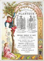 CHOCOLAT  LE PLANTEUR - CARTE GRAND MODELE 12 - Chocolat