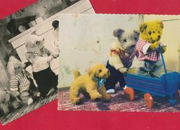 2 AK Mit Teddys ~ Um 1965 - Jeux Et Jouets