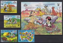 "2232  WALT DISNEY - GRANADA  ( ""SYDPEX '88"" )   Australian Cattle Dog And Dingo . - Disney"