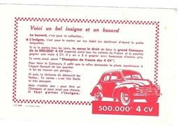 BUVARD  Automobile  RENAULT  400.000 è  4 CV - Buvards, Protège-cahiers Illustrés