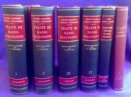 6 Livres = TRAITE DE RADIODIAGNOSTIC Schinz RONTGEN RAYONS X STRALEN RAY RADIOGRAPHIE RADIOLOGIE HOPITAL CLINIQUE Z692 - Santé