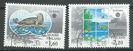 Finlande YT N°949/950 Europa 1986 Protection De La Nature Oblitéré ° - Finnland