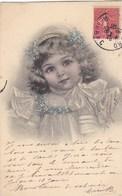 CPA Illustrateur Raphael TUCK  Jolie FILLETTE Robe En Dentelle Et FLEURS MYOSOTIS Timbre 1906 - Tuck, Raphael