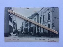 GENAPPE»RUE DE WAYS «Panorama,animation,Café De La Bourse,Munc Des Trois Suisses Au Tonneau (1905)Decelle Sœurs O.V.S - Genappe