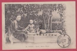 VIET-NAM----TONKIN----INDOCHINE-HANOI---Maitre D'Ecole---animé---precurseur - Viêt-Nam