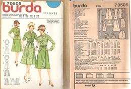 00 Patron BURDA Chemisier Et Jupe Portefeuille - Vintage - Loisirs Créatifs
