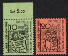 East Germany (DDR).1959 Youth Labour. SG E414-415. MNH - [6] Repubblica Democratica