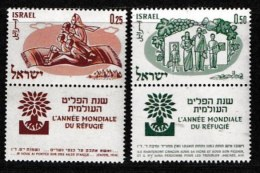 ISRAEL, 1960, Mint Never Hinged Stamp(s), Year Of The Refugees,  SG 186-187,  Scan 17055, With Tab(s) - Israel