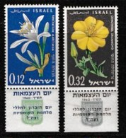 ISRAEL, 1960, Mint Never Hinged Stamp(s), Independence Day, SG 188-189,  Scan 17056, With Tab(s) - Israel