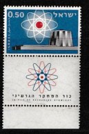 ISRAEL, 1960, Mint Never Hinged Stamp(s), Nuclear Reactor, SG 190,  Scan 17057, With Tab(s) - Israel