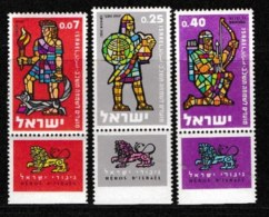 ISRAEL, 1960, Mint Never Hinged Stamp(s), Jewish New Year, SG 191-193,  Scan 17058, With Tab(s) - Israel