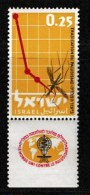 ISRAEL, 1962, Mint Never Hinged Stamp(s), Anti Malaria, 231,  Scan 17077, With Tab(s) - Israel