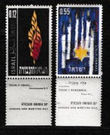 ISRAEL, 1962, Mint Never Hinged Stamp(s), Heroes Day, 227-228,  Scan 17079, With Tab(s) - Israel