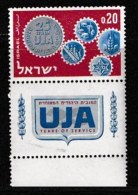 ISRAEL, 1962, Mint Never Hinged Stamp(s), U.J.A., 242,  Scan 17084, With Tab(s) - Israel