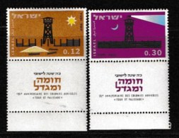 ISRAEL, 1963, Mint Never Hinged Stamp(s), New Settlements, 255-256,  Scan 17087, With Tab(s) - Israel