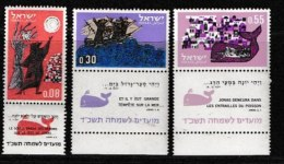 ISRAEL, 1963, Mint Never Hinged Stamp(s), Jewish New Year, 261-263,  Scan 17090, With Tab(s) - Israel