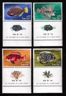 ISRAEL, 1963, Mint Never Hinged Stamp(s), Fishes, 265-268,  Scan 17092, With Tab(s) - Israel