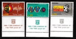ISRAEL, 1964, Mint Never Hinged Stamp(s), Independence, 275-277,  Scan 17095, With Tab(s) - Israel