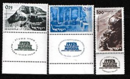 ISRAEL, 1965, Mint Never Hinged Stamp(s), Massada, 291-293,  Scan 17100, With Tab(s) - Israel