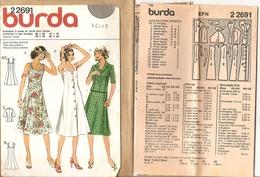 00 Patron BURDA Robe Bain Soleil Et Veste Manches Courtes  - Vintage - Loisirs Créatifs