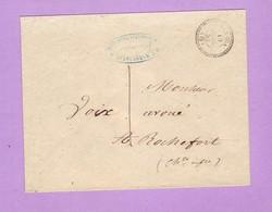 Charente Inférieure LE GUA CàD 22 Lettre De 1858 Pour Rochefort Taxe Manuscrite 1 Décimes Enveloppe Sans Correspondance - Marcophilie (Lettres)
