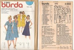 00 Patron BURDA Robe Dos Nu Et Veste Manches Courtes - Vintage - Loisirs Créatifs