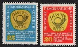 East Germany/DDR. 1959 East European Post Conference. SG E420-421. MNH - [6] Repubblica Democratica