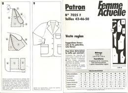 00 Patron  Femme Actuelle Veste Raglan - Vintage - Loisirs Créatifs