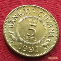 Guyana 5 Cents 1991 KM# 32 Guiana - Guyana