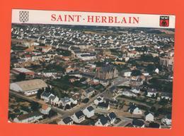 PL/15 SAINT ST HERBLAIN AU PORTES DE NANTES VUE AERIENNE BOURG EGLISE ZAC DE PREUX - Saint Herblain