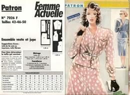 00 Patron  Femme Actuelle Ensemble Veste Et Jupe  - Vintage - Loisirs Créatifs