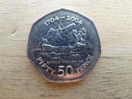 Gibraltar  50  Pence  2004  Km 1050  Anni; 1704-2004 - Gibraltar