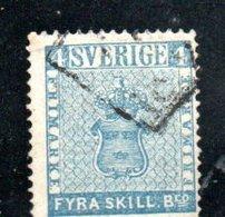 Suède / N 2 / 4 S Bleu / Oblitéré / Côte 100 € - Sweden