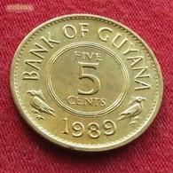 Guyana 5 Cents 1989 KM# 32 Guiana - Guyana