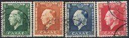 Serie Completa  GRECIA 1937, Rey George II, Yvert Num 417-420 º - Oblitérés