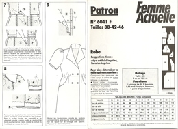 00 Patron Femme Actuelle Robe à Manches Ballon - Vintage - Loisirs Créatifs
