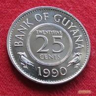 Guyana 25 Cents 1990 KM# 34 Guiana - Guyana