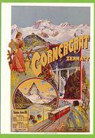 Gornergrat - ZERMATT Plakat Für Jura-Simplon-Bahn 1899 Repro Affiche Carl Annen - VS Valais