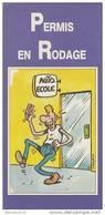 MARGERIN. Auto-Ecole. Permis En Rodage. Dépliant PUB Illustré Avec 2CV, Dauphine, Etc. DROUOT Assurances. - Objets Publicitaires