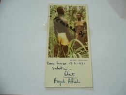"""FOTO DI NUDO SCATTO PRIVATO DAL SET """"AFRICA AMA"""" PORTO SUDAN ANGELO E ALFREDO CASTIGLIONI DI GALLARATE CON DEDICA 1971 - Afrique Du Sud, Est, Ouest"""